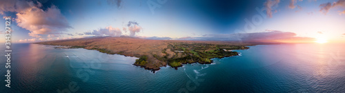 Aerial view of the west coast of the Big Island, Hawaii Canvas Print