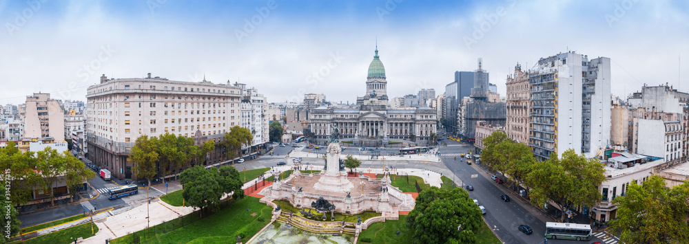 Fototapeta Panorama of the city of Buenos Aires, Argentina