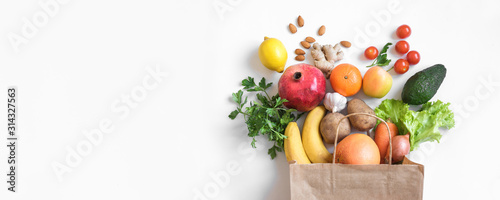 Healthy food background - 314327563