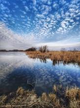 Winter Scenery Of Frozen Lake ...