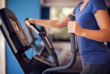 Woman Training In Cardio Zone ...