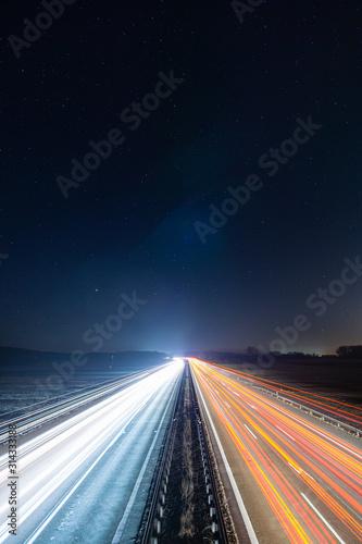 Fototapeta Autobahn bei Nacht obraz