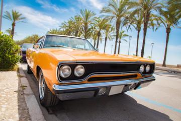 Car orange color classic