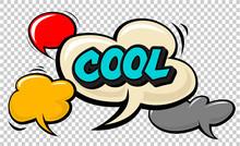 Cool Pop Art Cloud Bubble. Smi...