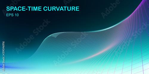 Fotografie, Tablou curvature Space-Time Concept Design - Hi-Tech Futuristic Background