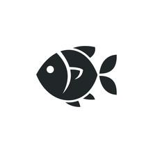 Fish Icon Template Color Edita...