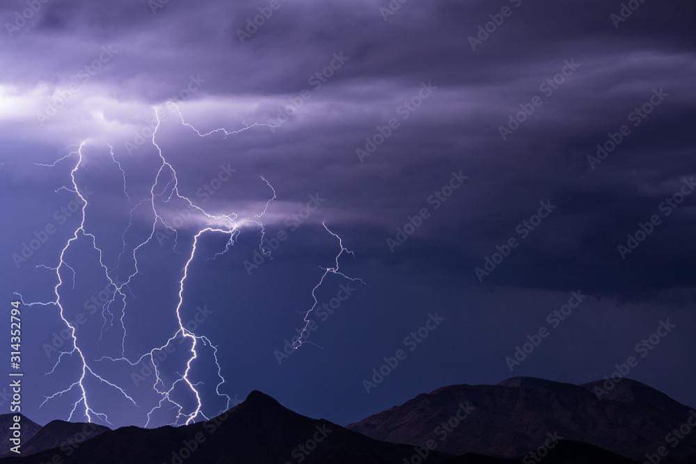 Fototapeta Lightning storm