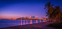 Sunset Beach Sea Bridge Aquatic Sky Ocean Landscape Dusk Dawn City Coast Lighting Cloud Colors