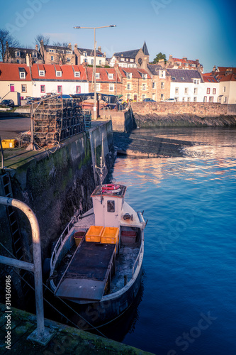 winter in st monans fishing village, fife, scotland. 2020 Wallpaper Mural