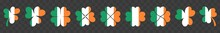 Ireland Flag Shamrock Icon | Shamrocks | Irish Symbol | Eire Colors Emblem | St. Patrick's Day Logo | Clover Sign | Isolated | Variations