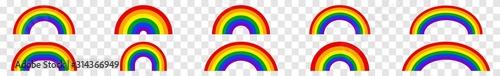 Fotografie, Obraz Rainbow Icon Colors | Rainbows | Peace Symbol | Weather Logo | Happy Sign | Isol