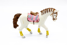 White Horse Toy Isolated On A ...