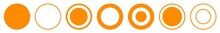 Label Circle Orange | Circles | Logo Sticker | Emblem Round | Icon | Variations
