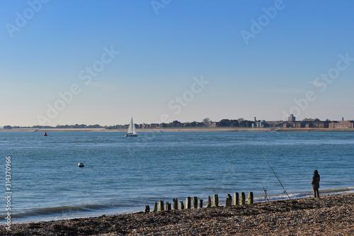 Portsmouth and Langstone fishing spots Fototapeta