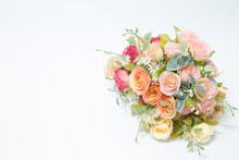 Isolated Bouquet Of Roses Made...