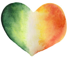 Watercolor St Patrick Heart, I...