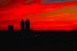canvas print picture - skyline at sunset