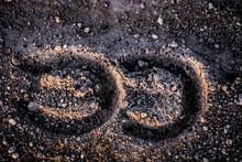Horseshoe Footprints On Rock R...