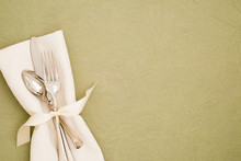 Table Place Setting With Silve...