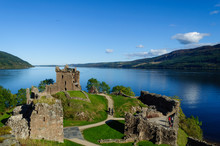Ruins Of Urquhart Castle On Th...
