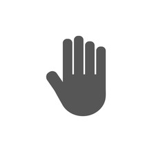 Stop Hand. Flat Vector Icon Il...