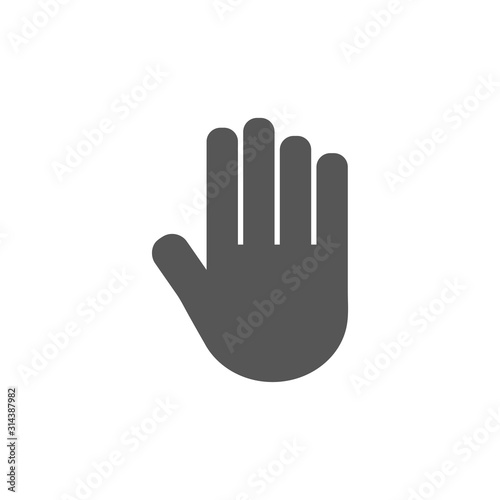 Obraz Stop Hand. Flat Vector Icon illustration. Simple black symbol on white background. Stop Hand sign design template for web and mobile UI element - fototapety do salonu