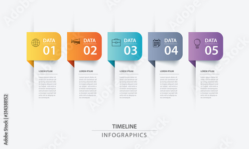 5 data infographics tab paper index template Tableau sur Toile