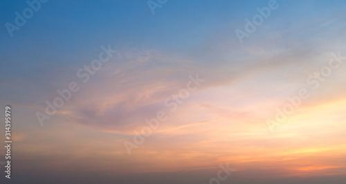 Obraz sky with clouds - fototapety do salonu