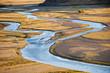 Ein Flußtal in der Steppe der Mongolei