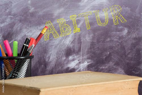Schule, Tafel und das Abitur Wallpaper Mural