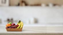 Close Up View Of Fruit Basket ...