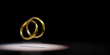 Two Golden Rings Chained Spotl...