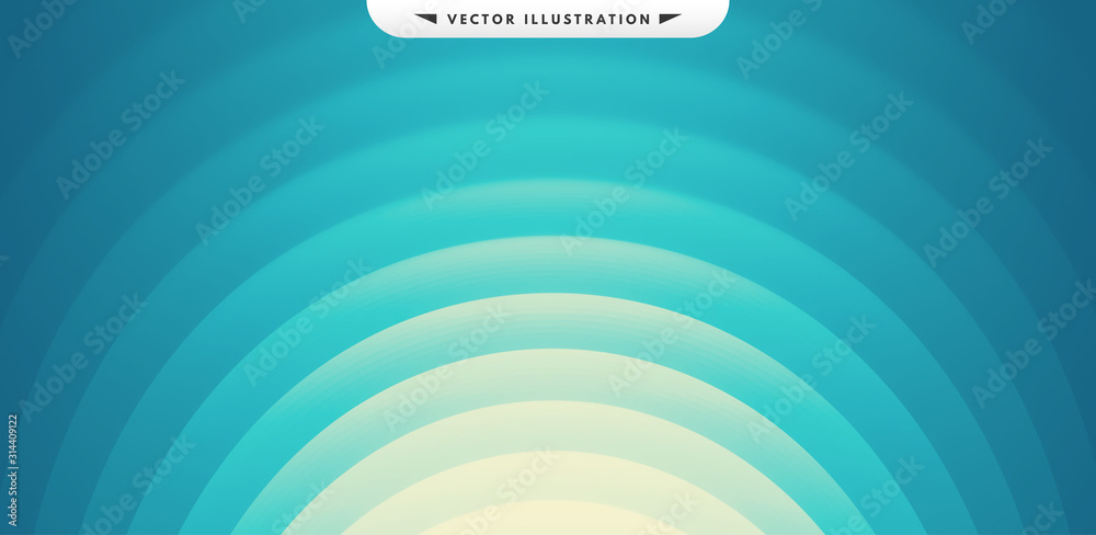 Abstract waved background with layers. Trendy covers design. Vector illustration in modern art style. <span>plik: #314409122 | autor: Login</span>