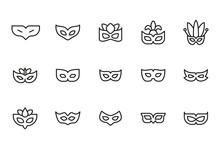 Stroke Line Icons Set Of Eye M...