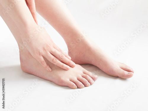 Obraz na plátně 足の乾燥・ヒールの痛みなどのイメージ