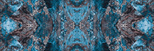 Abstract Blue Silver Texture Banner