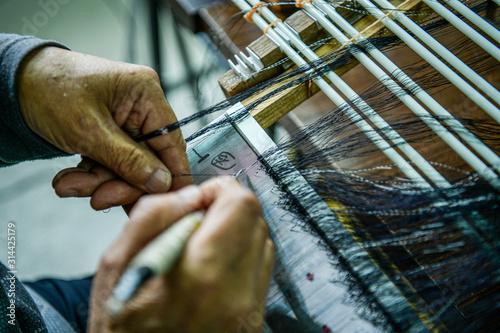 Photo 糸 手織り 日本 着物
