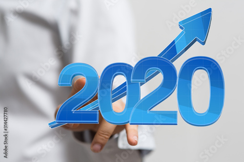 year 2020 business solution concept
