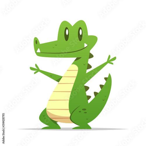 Cartoon crocodile vector isolated illustration Fototapete