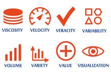 8 Big Data Vector Icon Set. Creative Icons On Isolated White Background.
