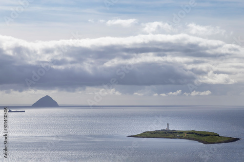 view of Ailsa Craig from Arran Canvas Print