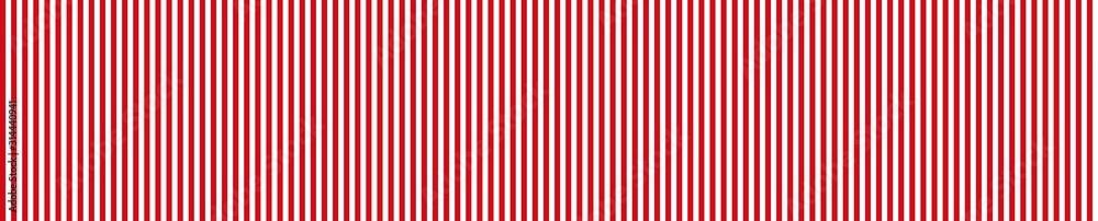Fototapeta Breiter gestreifter Hintergrund in rot und weiß
