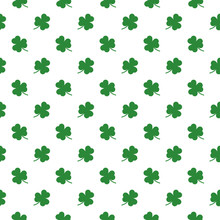 Shamrocks Leaf Seamless Pattern Background