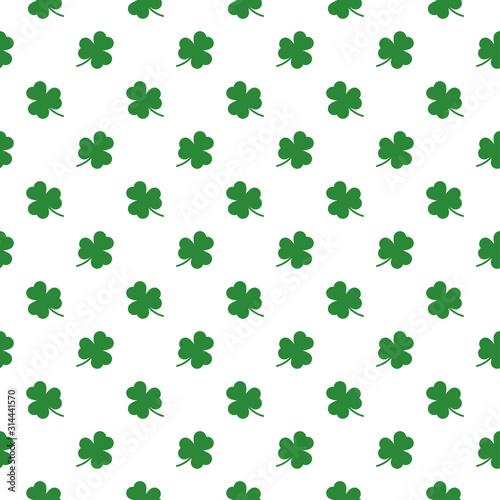 shamrocks leaf seamless pattern background Fototapete