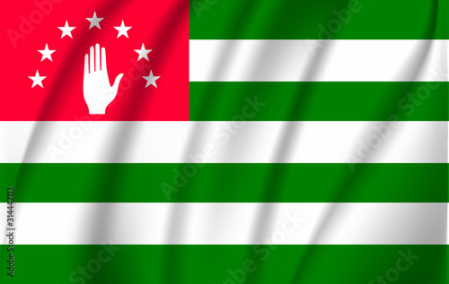 Abkhazia flag. Abkhazia Flag vector illustration. Wallpaper Mural