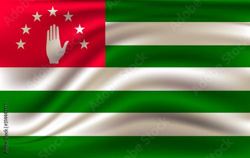 Photo Abkhazia flag. Abkhazia Flag vector illustration.