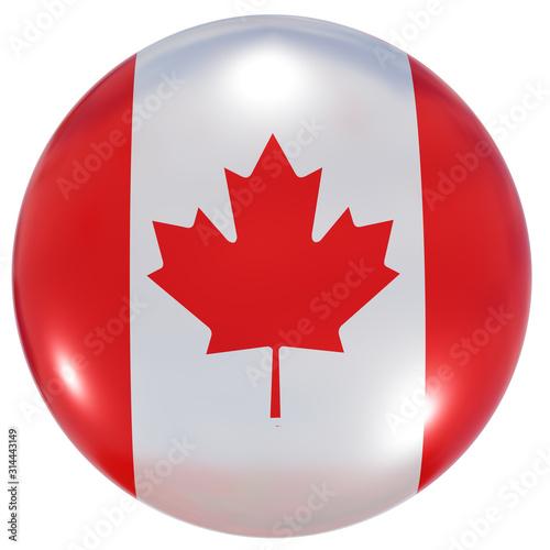 Canada national flag button