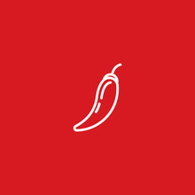 Chilli Pepper Flat Icon. Vector Concept Illustration For Design.