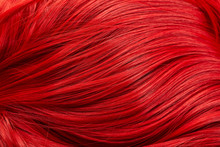 Close Up View Of Colored Red H...