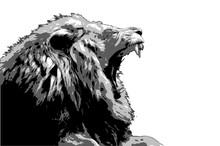 Male Lion Roar Vector